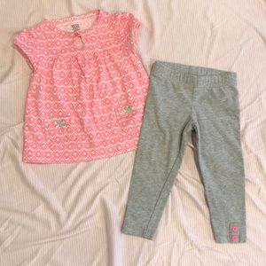 BUNDLE 5/$20, Carter's 9M Girls Pink 2pc Outfit